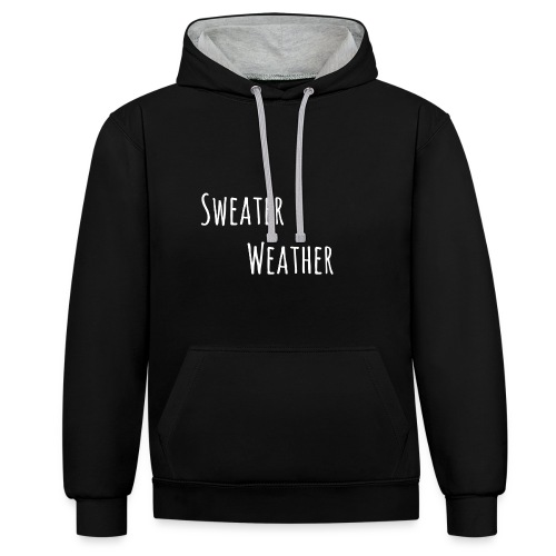 sweaterwea therwhite - Kontrast-Hoodie