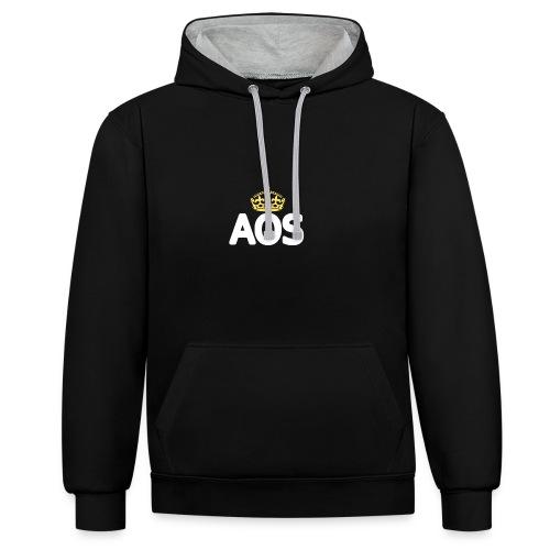 AOS - Kontrast-Hoodie