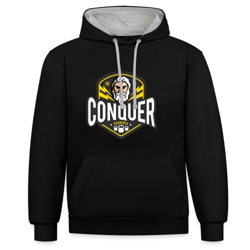 Conquer Yourself Clothing - Kontrast-Hoodie