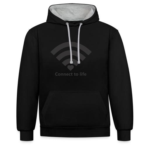 Conect_to_life - Sudadera con capucha en contraste