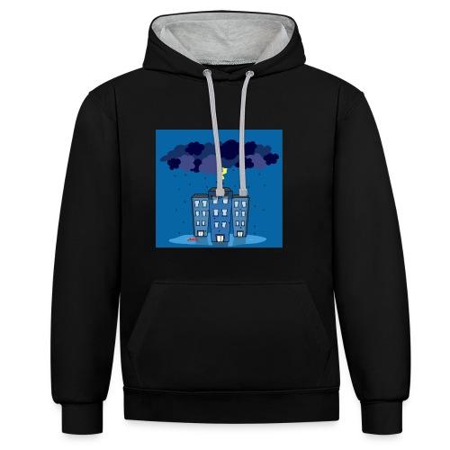 onweer-jpg - Contrast hoodie