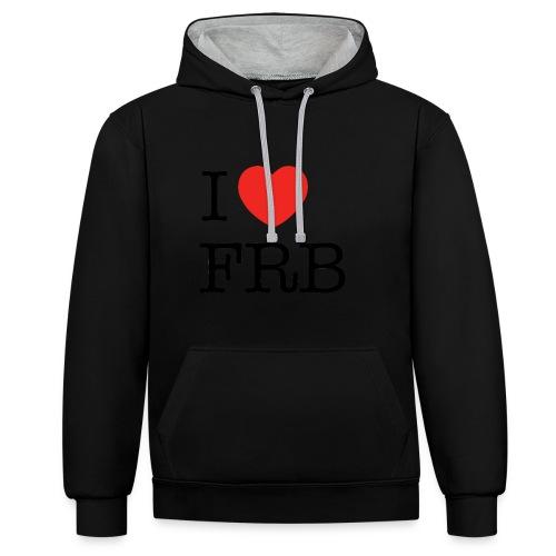 I Love FRB - Streetwear - Kontrast-hættetrøje