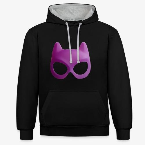 Bat Mask - Bluza z kapturem z kontrastowymi elementami