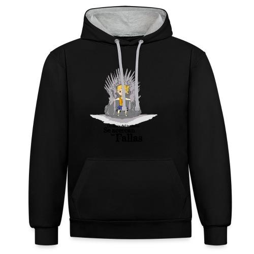 Camiseta hombre: Se acercan las fallas - Sudadera con capucha en contraste