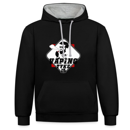 the Vaping tyke - Contrast Colour Hoodie
