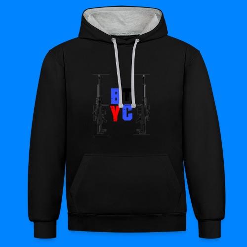 Blurixincommander YT AS50 Logo - Kontrast-Hoodie