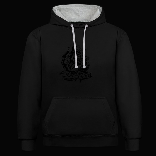 Drug_Fuckers_Logo _-_ Composition_01-_black - Contrast Colour Hoodie