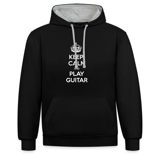 Keep Calm And Play Guitar - Felpa con cappuccio bicromatica