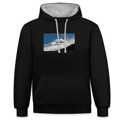 camiseta con estampe - Sudadera con capucha en contraste