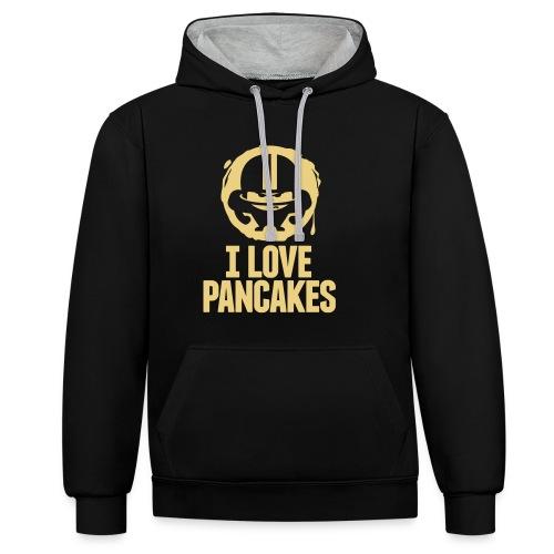 I LOVE PANCAKES - Kontrast-Hoodie