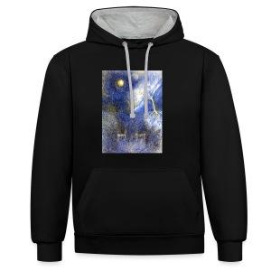 In Night On Meadow - Bluza z kapturem z kontrastowymi elementami