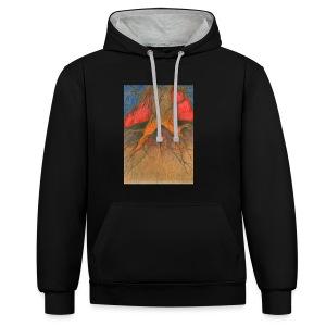 Roots - Bluza z kapturem z kontrastowymi elementami