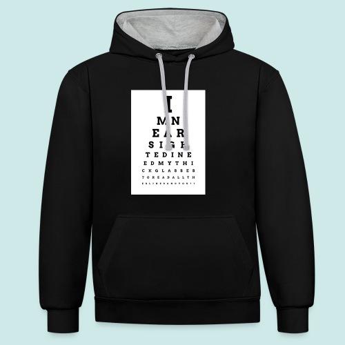 Eyechart Bold 2 - Sweat-shirt contraste