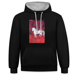 Pony - Bluza z kapturem z kontrastowymi elementami