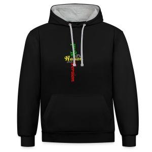 Reggae Healing Gears - Contrast Colour Hoodie