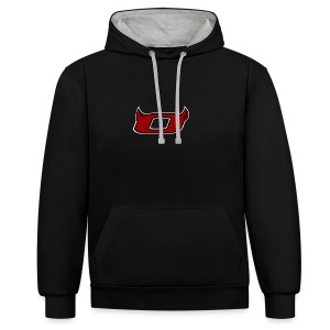 The Inferno O - Contrast Colour Hoodie