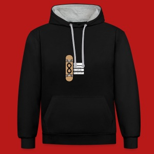 eat sleep skate repeat - Contrast hoodie