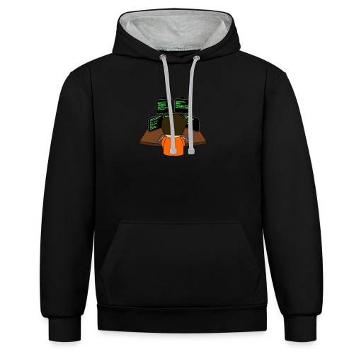 The small coder - Contrast Colour Hoodie