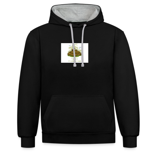 Its a poopie-day today. - Contrast hoodie