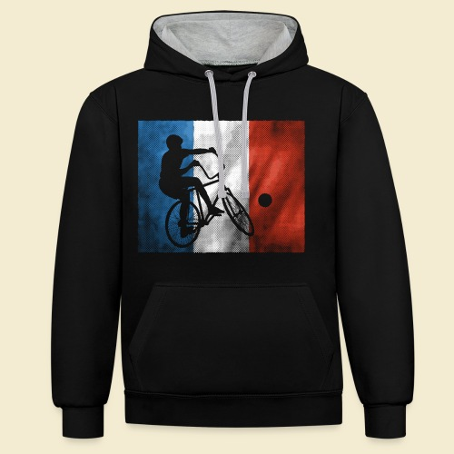 Radball | Flagge Frankreich - Kontrast-Hoodie