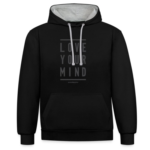 Mindapples Love your mind merchandise - Contrast Colour Hoodie