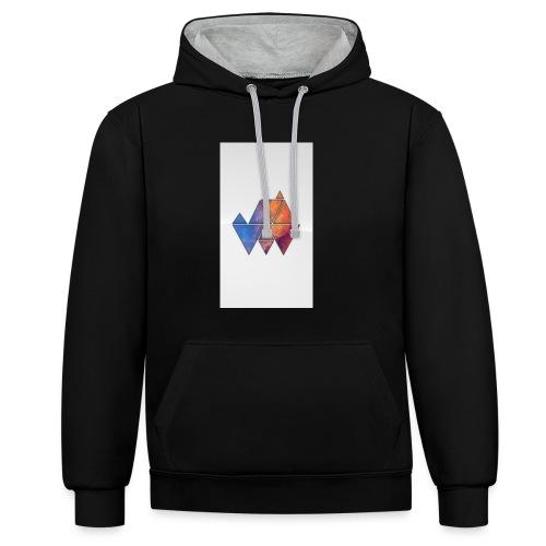 Colourful_Triangles - Kontrast-Hoodie