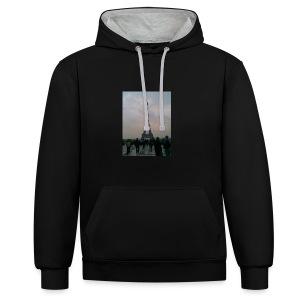 i love - Contrast hoodie