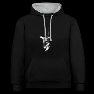 Polygoon Hert - Contrast hoodie