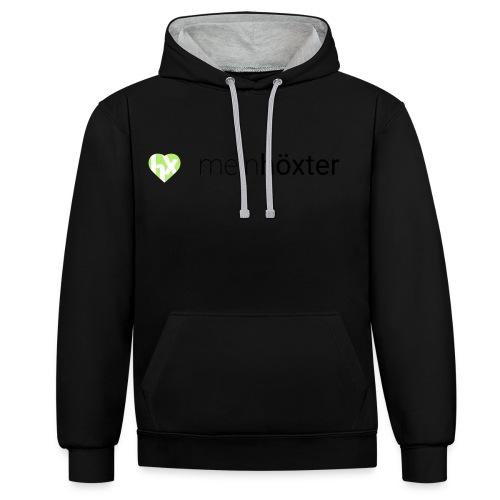 Mein Höxter Logo - Kontrast-Hoodie