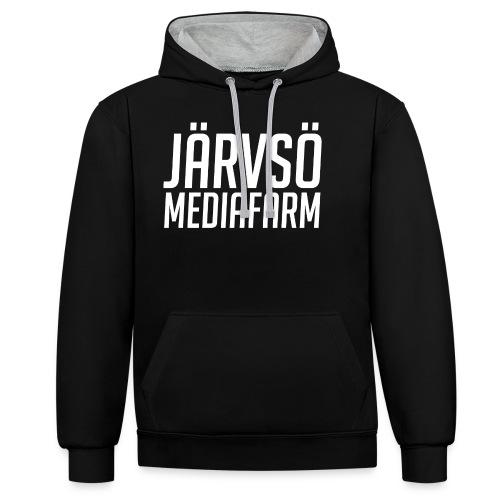 Järvsö MediaFarm White Logo - Contrast Colour Hoodie