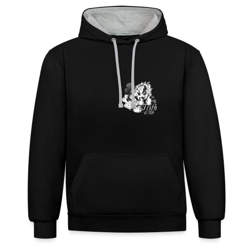 t shirt irish pie black copie petite png - Sweat-shirt contraste