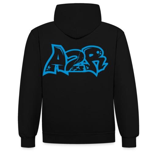 Logo A2R (lettrage N&B) - Sweat-shirt contraste