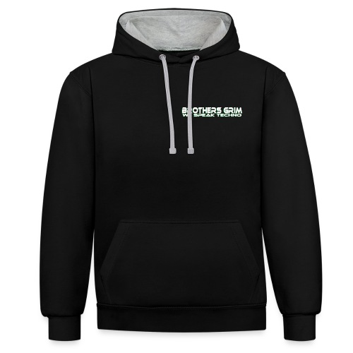 brothers grim WHT GRN copy png - Contrast Colour Hoodie