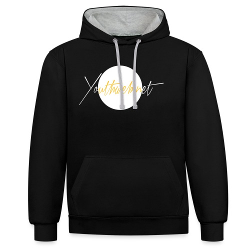 yw_Shirt-Emplem_whitewhit - Kontrast-Hoodie