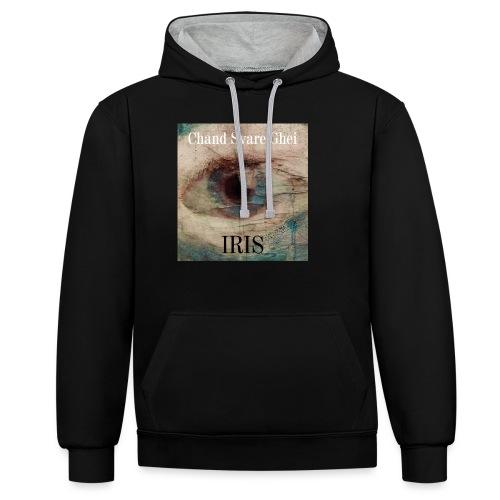 Iris - Kontrast-hettegenser