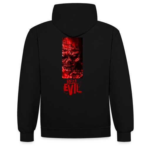 real evil - Contrast Colour Hoodie