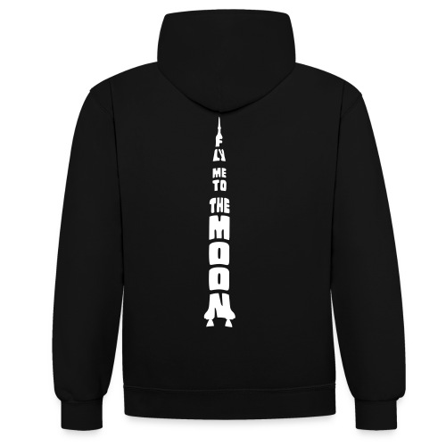 Fly me to the moon - Contrast hoodie