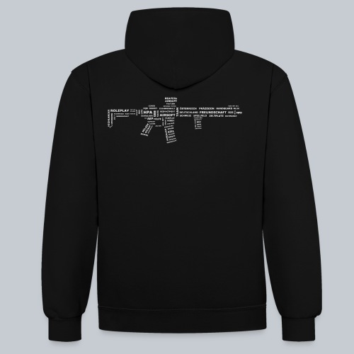 TXT RIFLE (White) - REAPERs Airsoft - Kontrast-Hoodie