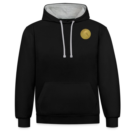 Trumpoi Offical Logo Circle png - Contrast Colour Hoodie