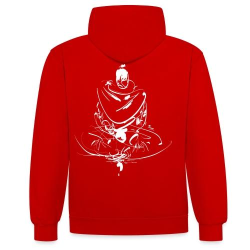 Iaido Samurai Zen Meditation - Contrast Colour Hoodie