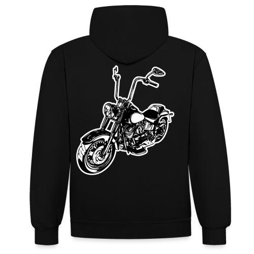Moto Softail - Sudadera con capucha en contraste