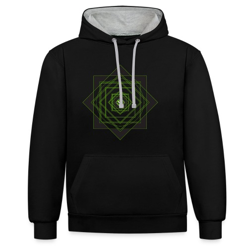 star pattern png - Contrast Colour Hoodie