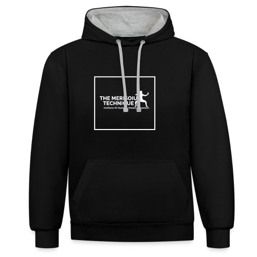 MTI LOGO Square Lined PNG - Contrast Colour Hoodie