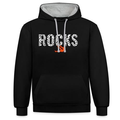 Rocks_4 - Kontrast-Hoodie