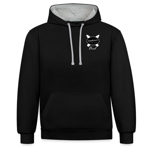 GOTV Logo inverted png - Contrast Colour Hoodie