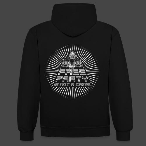 free party n'est pas un crime tekno 23 - Sweat-shirt contraste