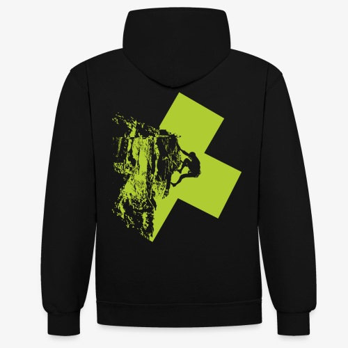 Climbing - Contrast Colour Hoodie
