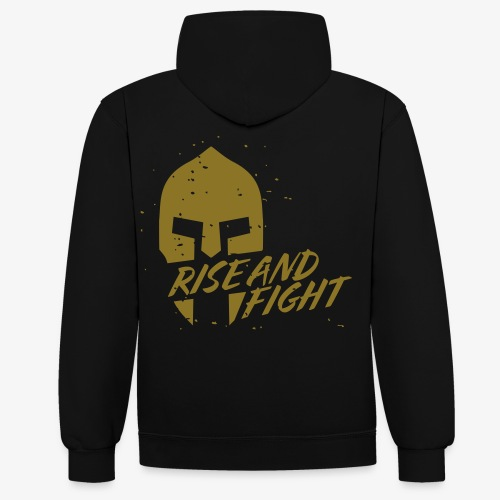 RISE AND FIGHT - Kontrast-Hoodie