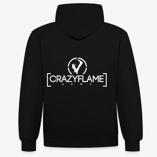 CraZyArmy Logo - Kontrast-Hoodie
