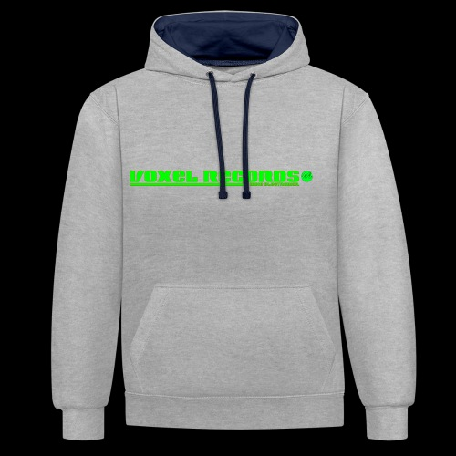 Voxel Records Banner Large - Contrast Colour Hoodie